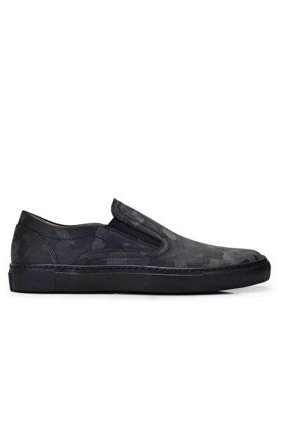 Nevzat Onay Hakiki Deri Gri Sneaker Erkek Ayakkabı -11538-