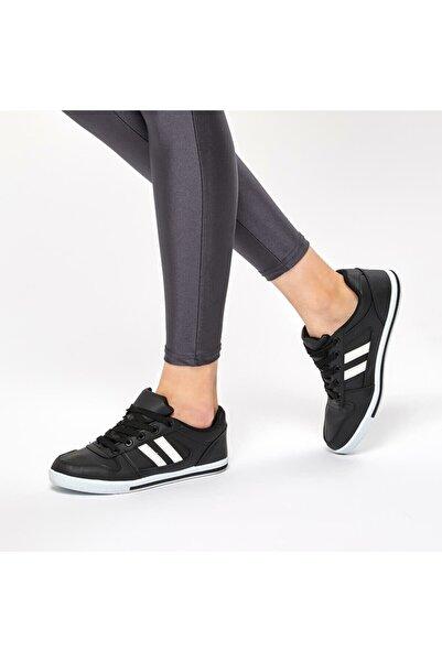 Polaris 92.311028.Z Siyah Kadın Havuz Taban Sneaker 100421240