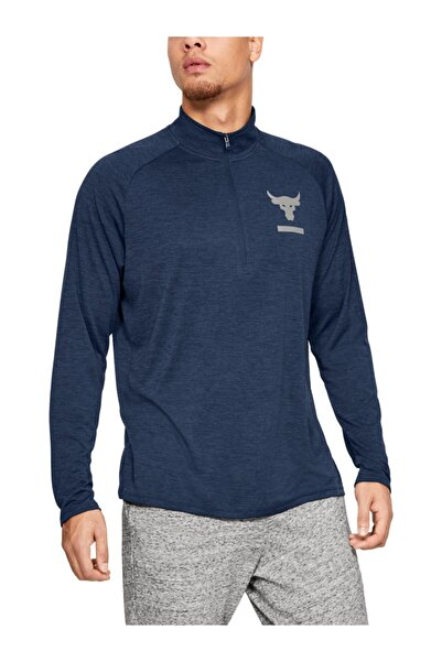 Under Armour Erkek Spor T-Shirt - Ua Pjt Rock Tech 1/2 Zip - 1345822-408