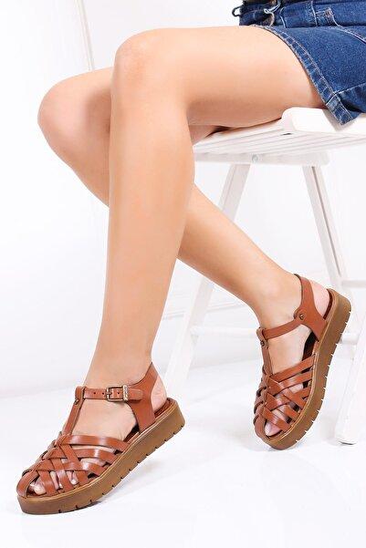 Deripabuc Hakiki Deri Taba Kadın Deri Sandalet Dp-0097