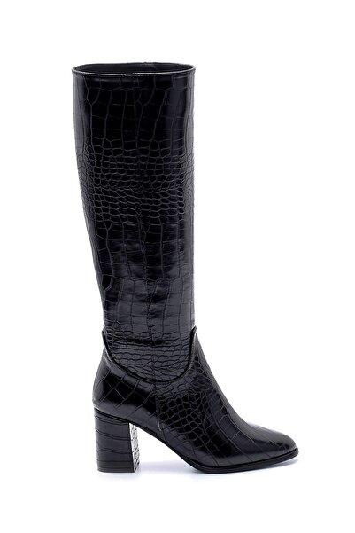 Derimod Kadın Kroko Desenli Topuklu Çizme