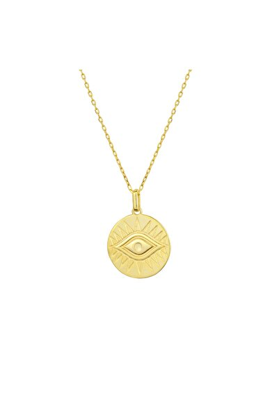 Gimora Büyük Göz Madalyon Gümüş Kolye