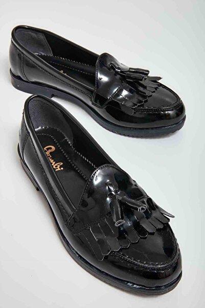Bambi Siyah Kadın Loafer Ayakkabı M05092050