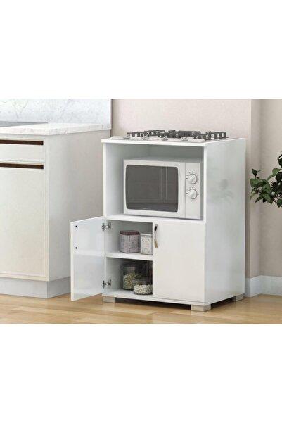 Remaks Çok Amaçlı Set Altı Dolap Mutfak Mikrodalga Fırın Dolabı - Beyaz