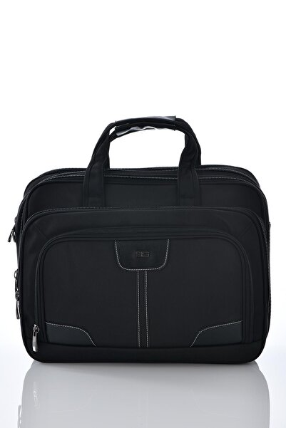 ÇÇS 71204 Laptop Bölmeli Körüklü Evrak Çantası Siyah