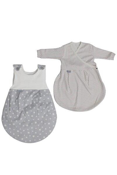 bebegen Alvi Baby Yıldızlı Ikili Uyku Tulumu Kırmızı Laci