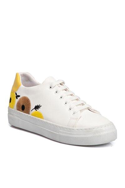 Tergan Beyaz Kadın Ayakkabı 64541d93