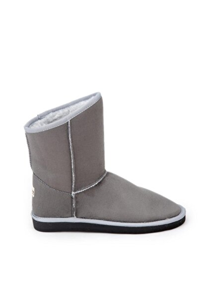 Antarctica Boots Klasik Içi Kürklü Eva Taban Süet Gri Kısa Bayan Bot
