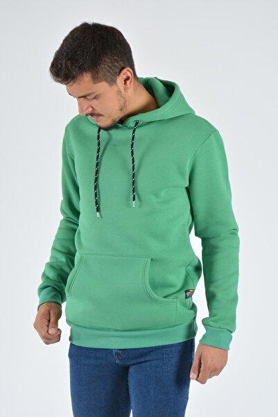 Terapi Men Erkek Kapşonlu Uzun Kollu Sweatshirt 20k-5200383 Yeşil