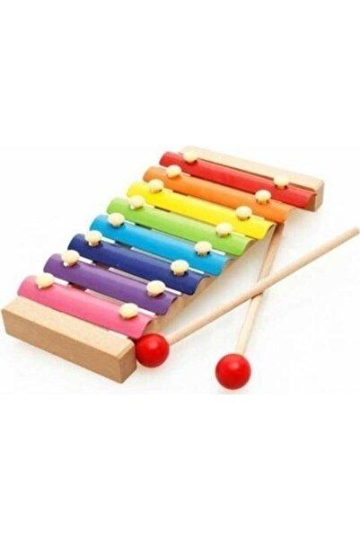 HAMAHA Wooden Toys Eğitici Ahşap Ksilofon 8 Nota 8 Ton 25 Cm 8 Tuşlu Sesli Selefon Oyuncak