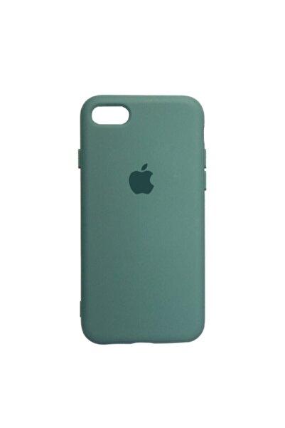 Mopal Apple Iphone 7/8 Logolu Iç Yüzeyi Kadife Altı Kapalı 360° Tam Koruma Silikon Lansman Kılıf