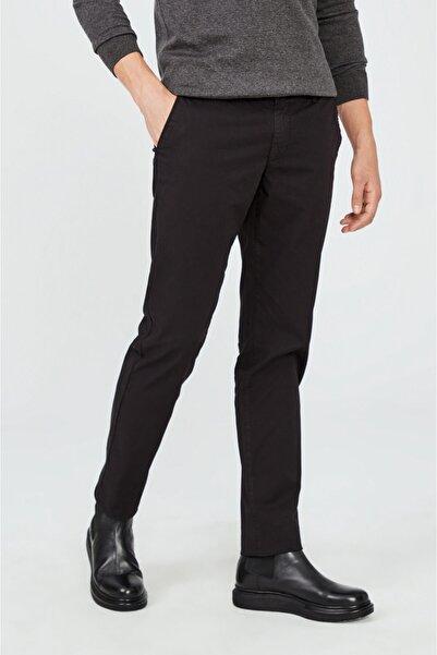 Avva Erkek Siyah Yandan Cepli Düz Slim Fit Pantolon A02y3074