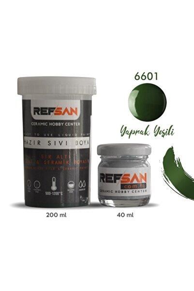 Ref-San Hazır Çini Ve Seramik Boyası 6601 Yaprak Yeşili 40 ml