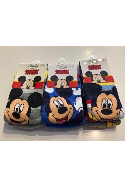 Mickey Mouse Lisanslı Havlu 3'lü Soket Çorap