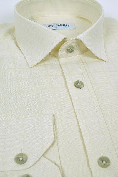 Ottomoda Uzun Kollu Kareli Gömlek Sari