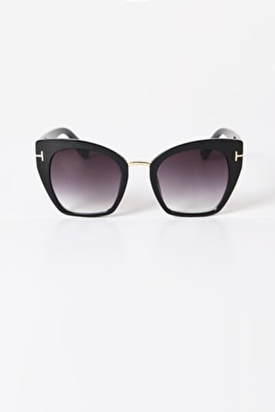 T Tasarım Siyah Güneş Gözlüğü