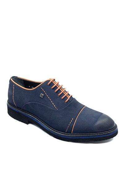 Fosco 1070 Lacivert Nubuk Hakiki Deri Klasik Ayakkabı