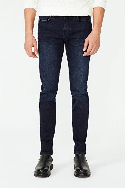 Avva Erkek Lacivert Slim Fit Jean Pantolon A02y3547