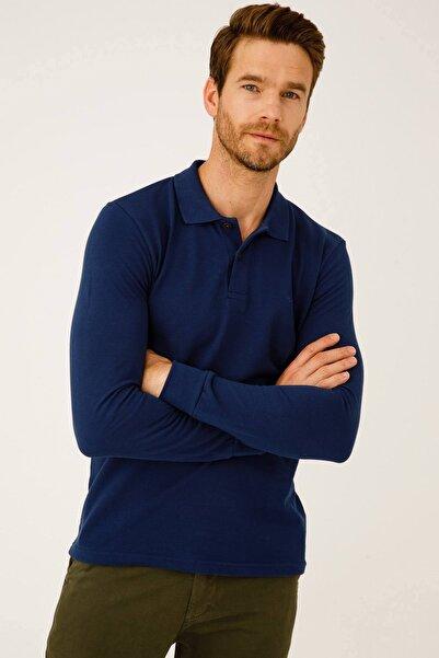 İgs Erkek Indigo Standart Polo Yaka Sweatshirt