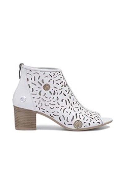 Mammamia Deri Kadın Topuklu Ayakkabı 19zn3260 - Beyaz - 36