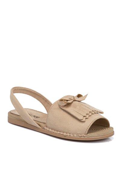 Tergan Bej Vegan Kadın Sandalet 210111d67