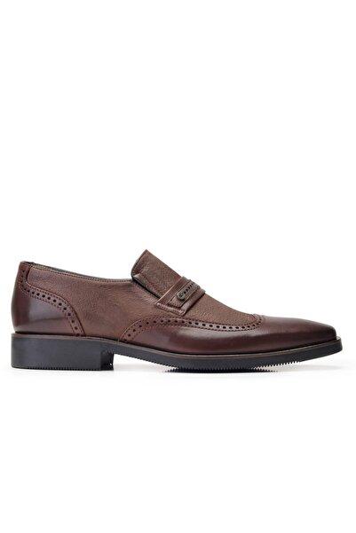 Nevzat Onay Hakiki Deri Kahverengi Günlük Loafer Erkek Ayakkabı -11841-