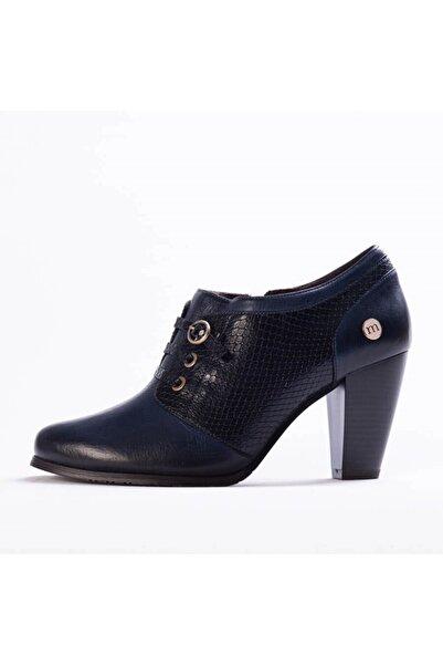 Mammamia Kadın Lacivert Yılan Günlük Ayakkabı