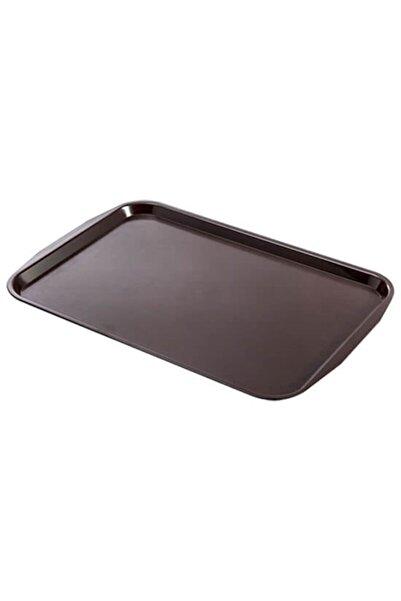 Evren Servis Tepsisi Abs Plastik 31*43cm Kahverengi