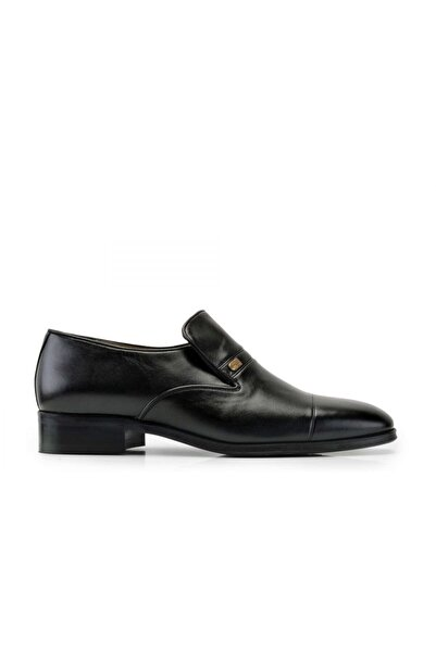 Nevzat Onay Hakiki Deri Siyah Klasik Loafer Erkek Ayakkabı -10577-