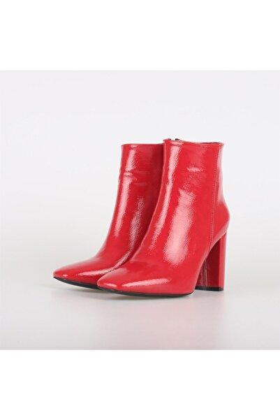 Posse Shoes Alice Kırışık Rugan Bot Kırmızı