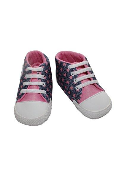 bebegen Laci Kot Pembe Kalpli Kız Bebek Ayakkabı