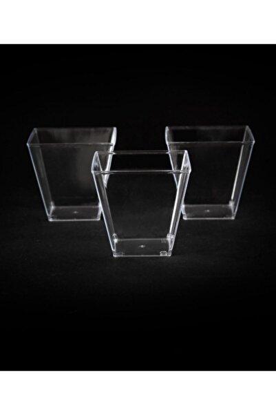 Kristal Plastik Akrilik Prizma Kübik Kase 120cc 24 Adet - Kapaksız