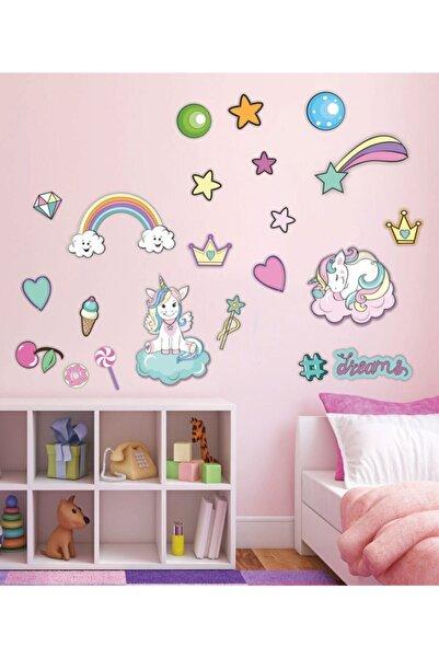 Babyroom Unicorn Dreams 21 Parça Set Çocuk Odası Kreş Dekor