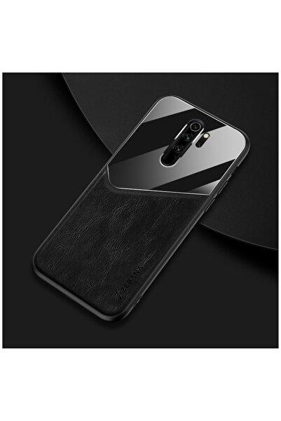 Dara Aksesuar Xiaomi Redmi Note 8 Pro Kılıf Zebana New Fashion Deri Kılıf Siyah