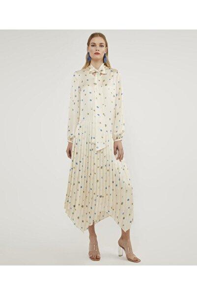 Aker Kadın Original Piliseli Desenli Elbise V43120233