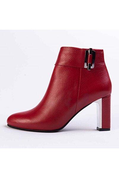 Gusse Alıce Kadın Kırmızı Hakiki Deri Bot