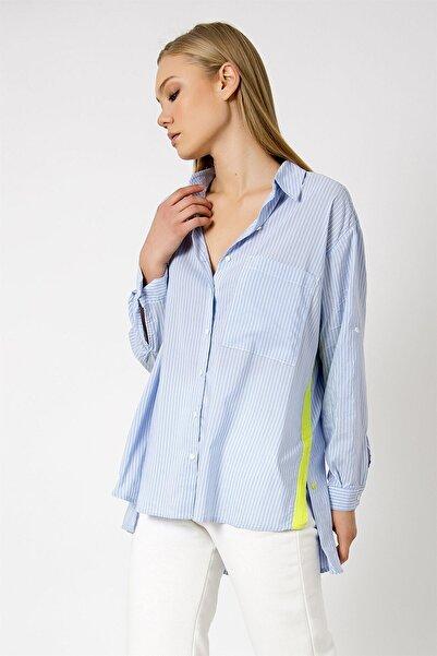 ZİNDİ Kadın Gömlek Mavi