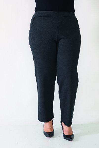 Şahbaz Büyük Beden Kışlık Likralı Kumaş Pantolon