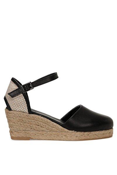 Nine West Frıda Siyah Kadın Dolgu Topuk Sandalet