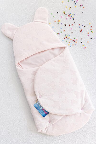 Babymod Mickey Desenli Welsoft Kız Bebek Kundağı