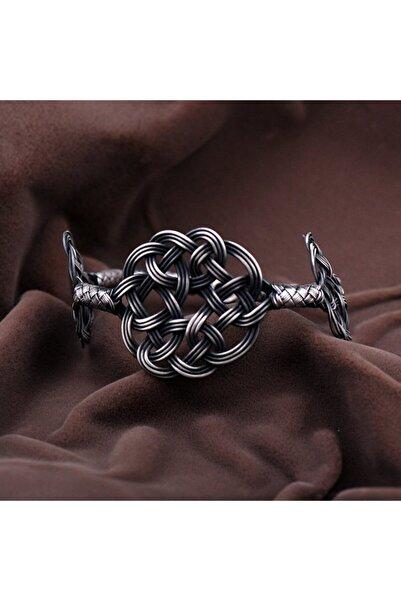Sümer Telkari Kadın Kazaziye İşçilikli Aşk Düğümü  Gümüş Bileklik 2107