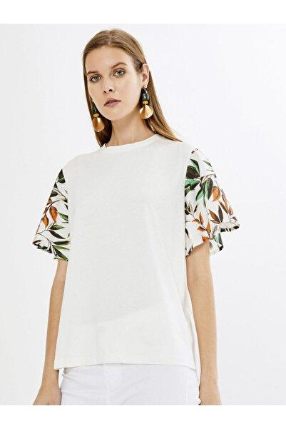 Xint Kadın Beyaz Renkli Çiçek Desenli Bluz