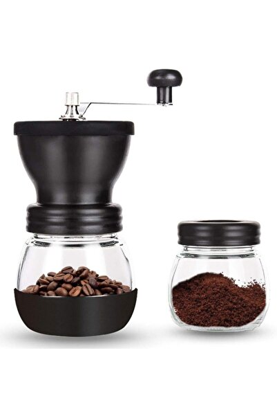 Havana Seramik Kahve Değirmeni Öğütücü Ayarlanabilir Kaymaz Cam