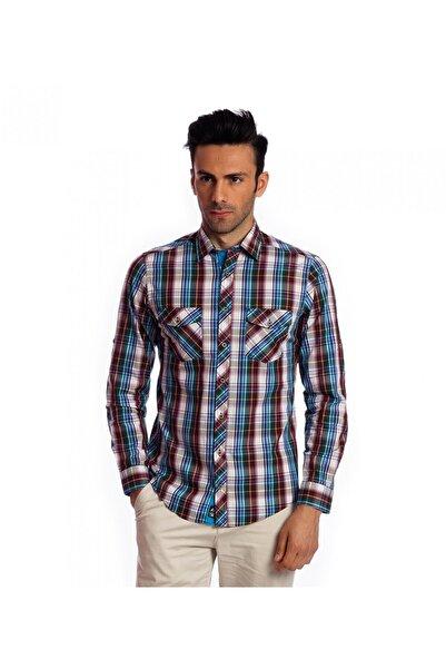 Karaca Erkek Slim Fit Casual Gömlek Mavi