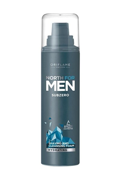 Oriflame North For Men Subzero 2'si 1 Arada Temizleyici Ve Tıraş Köpüğü 200 ml.