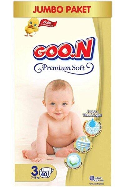 Goo.n Goon Premium Soft Bebek Bezi 3 Beden Jumbo Paket 40 Adet