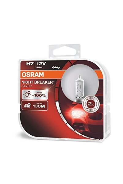 Osram Night Breaker Silver H7 Ampul 64210nbs +100% Fazla Işık