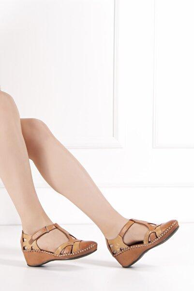 Venüs Kadın Taba Hakiki Deri Sandalet 21793071