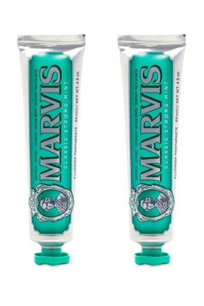 Marvis Yeşil  Classic Strong Mint Diş Macunu 85 ml X 2 Adet 8004395111701-2