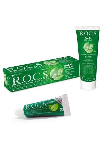 R.O.C.S. Gum Balm - Dişeti Koruması Için Bitkisel Balsam Diş Macunu + 25 Gram Seyah Boyu